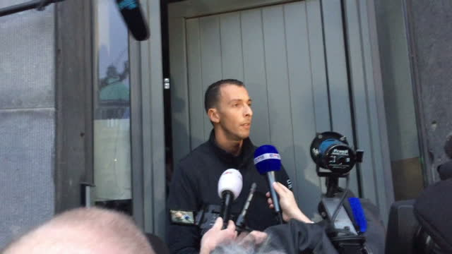 Exterior shots statement in French Mohammad Abdeslam Brother of Wanted Suspect Salah Abdeslam on doorstep to media packPolice believe Friday's...
