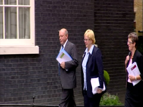 Exterior shots Steve Field author of an expert report into the future of the NHS arrives at No 10 Downing Street with aides Interior shots David...