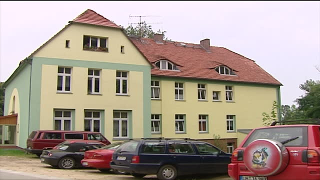 exterior shots the childhood home of chancellor angela merkel in templin on august 23 2005 in templin germany - 2005 stock videos & royalty-free footage