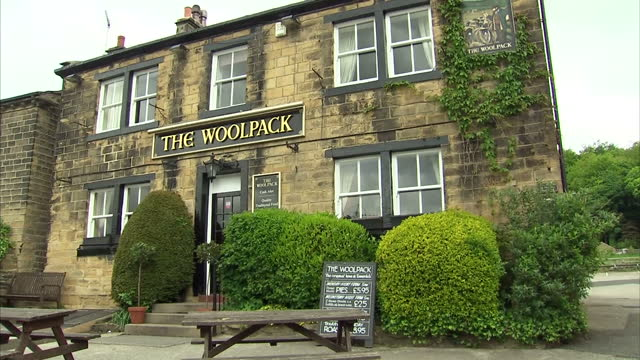 exterior shots the woolpack pub on the set of emmerdale on the set of emmerdale on may 24 2013 in unspecified - soap opera stock videos & royalty-free footage