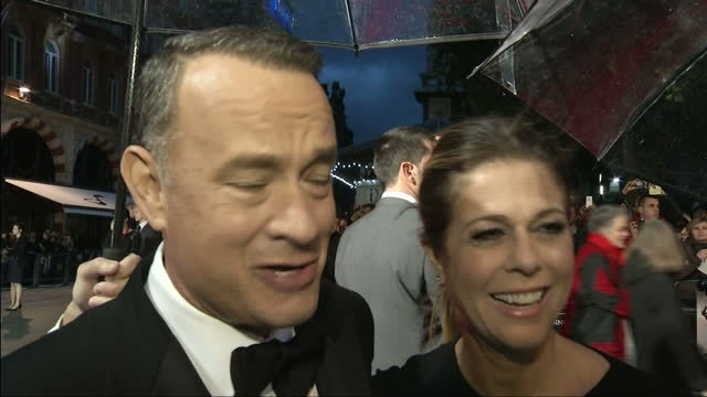 exterior shots tom hanks, actor, and rita wilson, wife, talk about the actor having type 2 diabetes. he says that he has stopped playing around with... - tom hanks stock videos & royalty-free footage