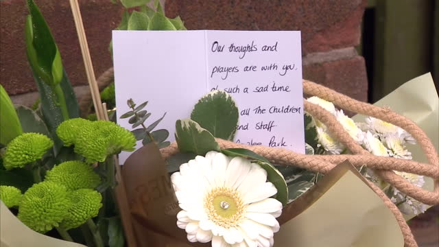 exterior shots tributes left outside lee rigby's family home lee rigby tributes re woolwich murder on may 24 2013 in middleton england - lee rigby stock videos & royalty-free footage
