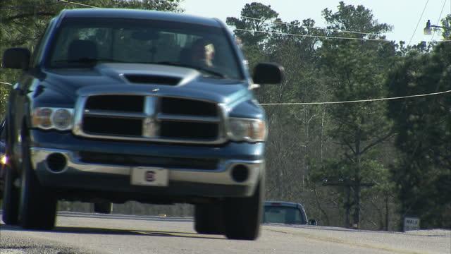 Exterior shots vehicles driving along road on January 13 2016 in North Charleston South Carolina
