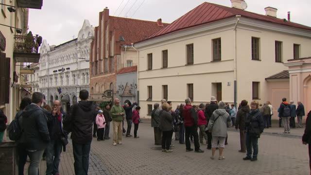 exterior shots vilnius streetscenes on 12 october 2017 in vilnius - lithuania stock videos & royalty-free footage