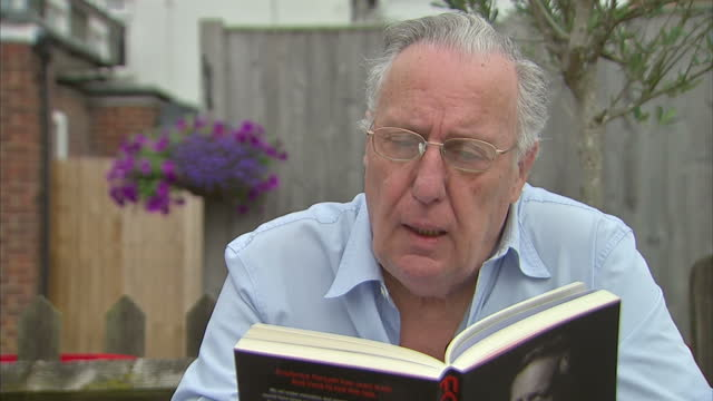 Exterior shots Writer Frederick Forsyth reading from his book 'Frederick Forsyth The Outsider on August 30 2015 in High Wycombe England
