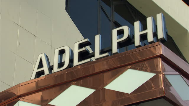 exterior showing the adelphi theatre located in the west end of london near covent garden headline london's theatres on july 1 2014 in london england - adelphi theatre stock videos & royalty-free footage