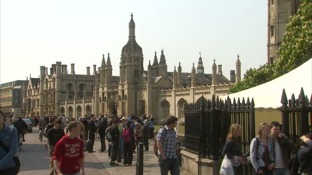 exterior shows cambridge university campus with historic buildings and people walking on streets october 16, 2013 in london, england. - cambridge university stock videos & royalty-free footage