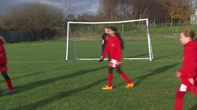 exterior shows female, girls only football or soccer training session - only girls stock videos & royalty-free footage