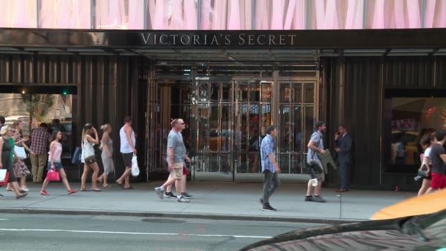 ATMOSPHERE exterior signage at Victoria's Secret Angels Elsa Hosk and Sara Sampaio Celebrate the Best TShirt Bra Ever at Victoria's Secret Fifth Ave...