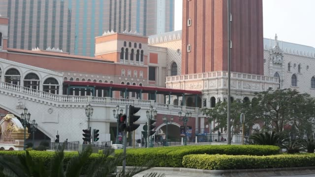 Exterior signage for the Venetian Macao resort and casino operated by Sands China Ltd a unit of Las Vegas Sands Corp Various views of the Venetian...