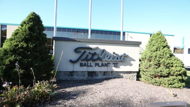 exterior signage of titleist golf ball manufacturing in new bedford ma on october 20 2017 photographer scott eisen shots full shot of signage for... - new bedford stock videos & royalty-free footage