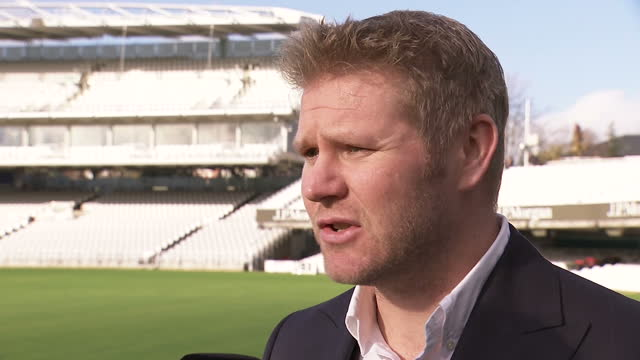 exterior soundbite with former england cricketer matthew hoggard speaking about safety in cricket with regards to the accident that lead to the death... - früherer stock-videos und b-roll-filmmaterial