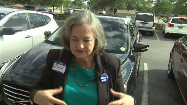Exterior soundbites with Hillary Clinton Democrat supporters giving their views on Donald Trump winning the 2016 US Presidential Election and...