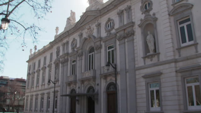 exterior spain's supreme court - justice concept stock videos & royalty-free footage