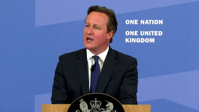 exterior speech by british prime minister david cameron on tackling extremism and promoting cohesion part two on july 20, 2015 in london, england. - isil konflikt stock-videos und b-roll-filmmaterial