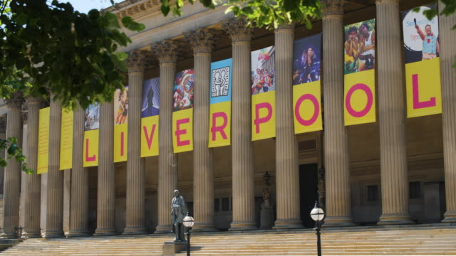 exterior st george's hall, liverpool - liverpool england stock videos & royalty-free footage