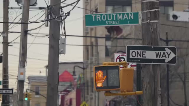 Exterior street scenes around Brooklyn's Troutman Street area on January 17 2017 in New York City