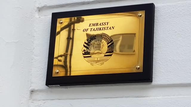 exterior takikistan embassy in london - information medium stock videos & royalty-free footage