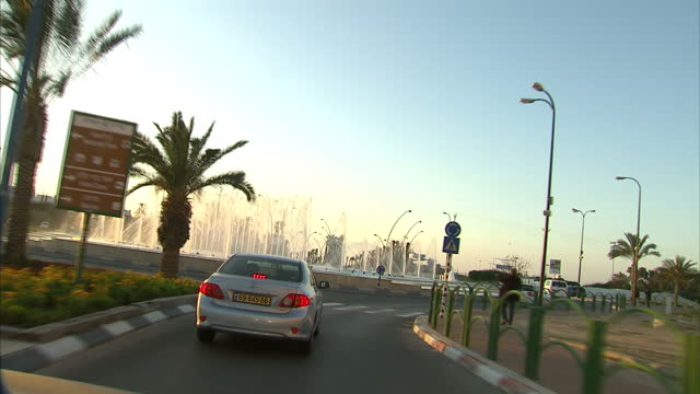 exterior travelling shot along roads through ashkelon on march 16 2013 in national harbor maryland - ashkelon stock videos and b-roll footage