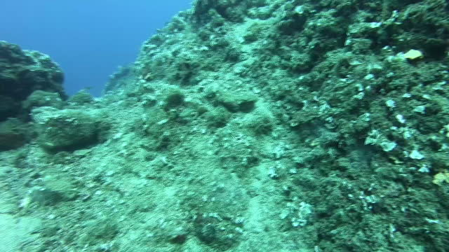 exterior underwater shots of divers working to recover pieces of plastic from the seabed on 5th june 2018 in santorini, greece - santorini stock videos & royalty-free footage