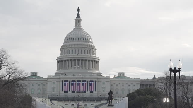 exterior, us capitol building, in january 2017. - donald trump us president stock videos & royalty-free footage