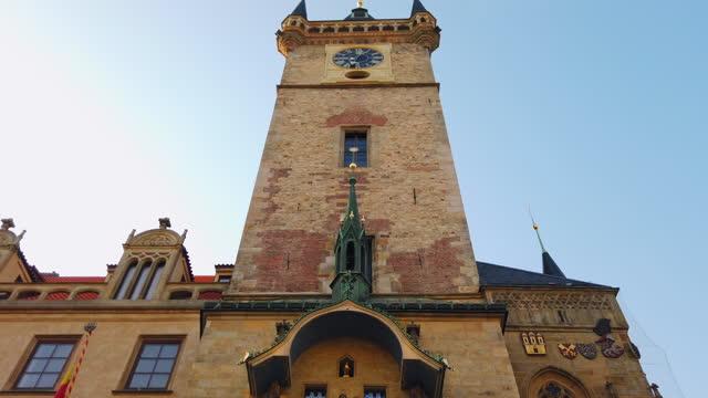 プラハの天文時計の外観 - プラハ旧市庁舎点の映像素材/bロール