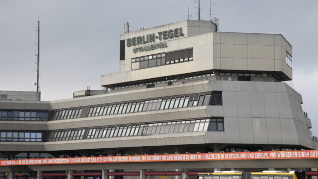 exterior view of berlin tegel airport many flights are cancelled on march 19 2020 in berlin germany everyday life in germany has become fundamentally... - viral infection stock videos & royalty-free footage