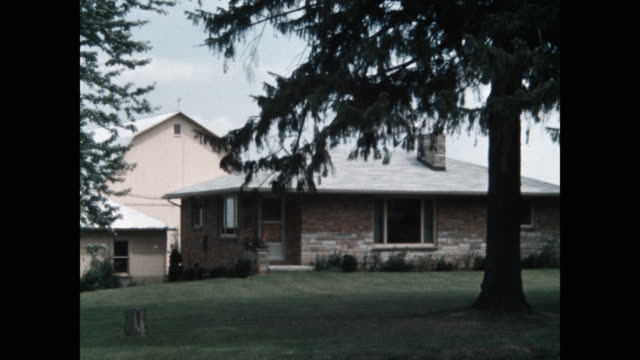exterior view of ranch house - ranch house stock videos & royalty-free footage