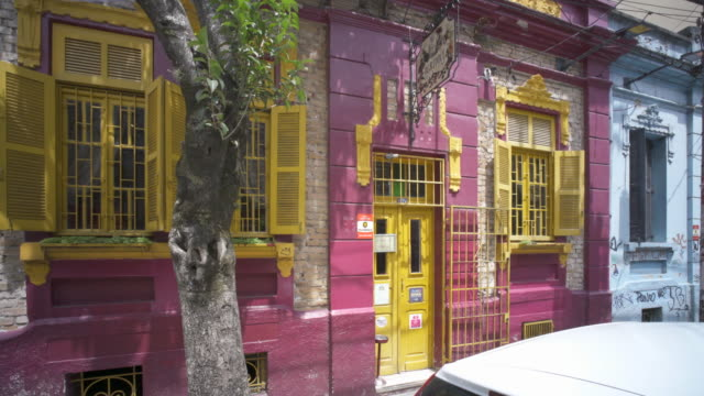 exterior view of the boutique cafe agridoce in porto alegre, southern brazil. - cafe culture stock videos and b-roll footage