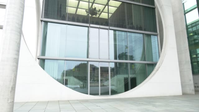 exterior view of the conference room of the marie-elisabeth-lüders-haus while ursula von der leyen, current president of the european commission and... - conference phone stock videos & royalty-free footage