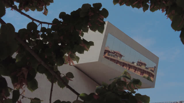 exterior view of the national museum of 21st century arts on august 21, 2021 in rome, italy. to be able to go to restaurants, museums and churches,... - tourism video stock e b–roll