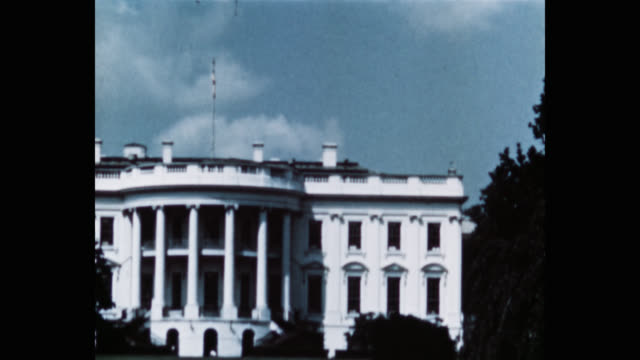 exterior view of white house, washington dc, united states - less than 10 seconds stock videos & royalty-free footage