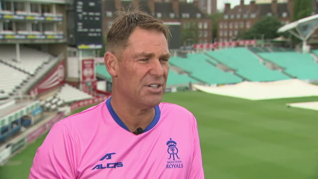 exterior views of an interview with ex-cricketer shane warne, talking about ben stokes and the ashes on 3 september 2019 in london, united kingdom - ashes test stock videos & royalty-free footage