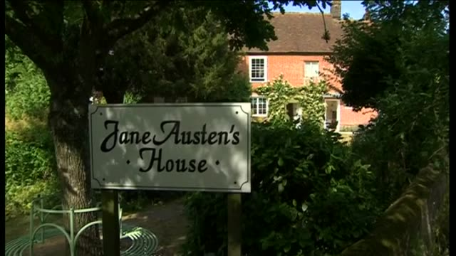 exterior views of jane austen's house museum - jane austen author stock videos and b-roll footage