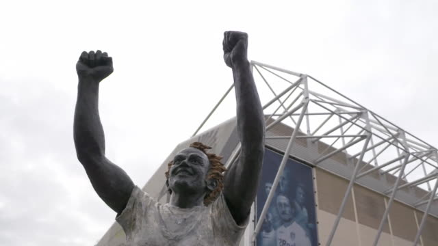 exterior views of leeds united's elland road stadium - low angle view stock videos & royalty-free footage