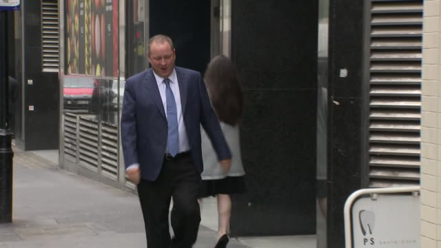 exterior views of mike ashley walking into the spots direct agm on 11 september in london, united kingdom. - 年次総会点の映像素材/bロール