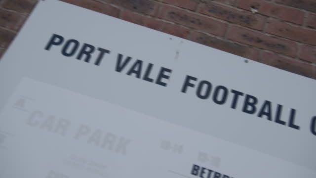 exterior views of port vale fc's vale park ground - boundary stock videos & royalty-free footage
