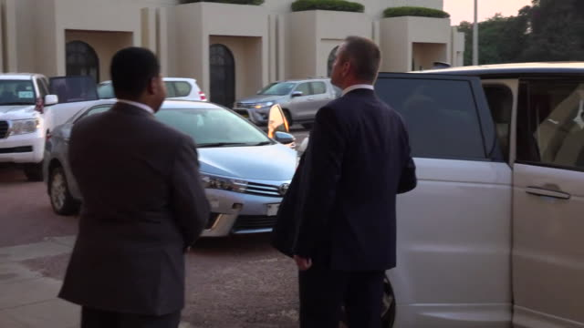 exterior views of prince harry arriving and being greeted by officials at the presidential residence on 29 september 2019 in lilongwe , malawi. - malawi stock videos & royalty-free footage