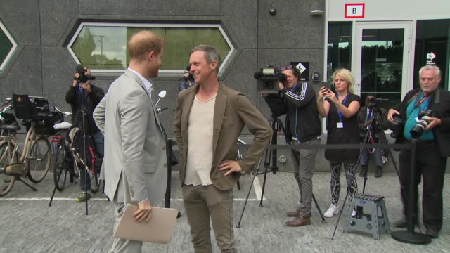 exterior views of prince harry duke of sussex arriving to launch a responsible eco tourism initiatve travalyst at the the hello i'm adam building on... - eco tourism stock videos & royalty-free footage