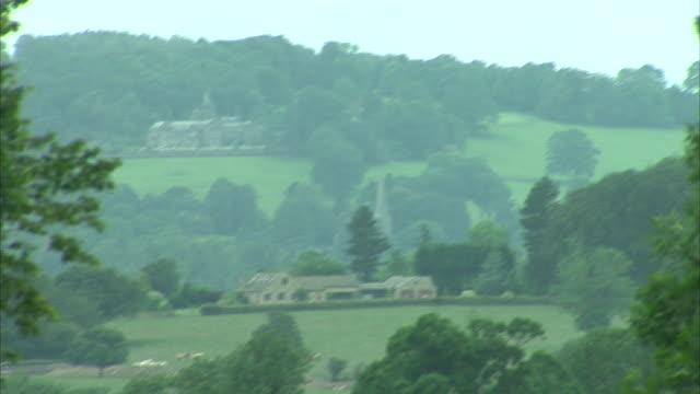 vídeos y material grabado en eventos de stock de exterior views of sheep painted in the tour de france jersey colours in a farm field on 3 july 2014 in harrogate united kingdom - lunares