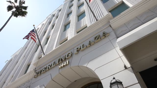Exterior Views of Sterling Plaza owned by Donald T Sterling located at 9441 Wilshire Blvd in Hollywood California US Shots of the building from...