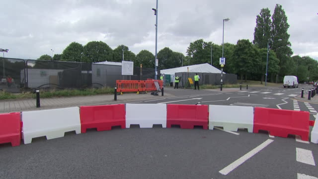 exterior views of the entrance to a covid-19 test centre in sandwell , showing signs and staff outside on 1 august 2020 in west bromwich, united... - west midlands stock videos & royalty-free footage