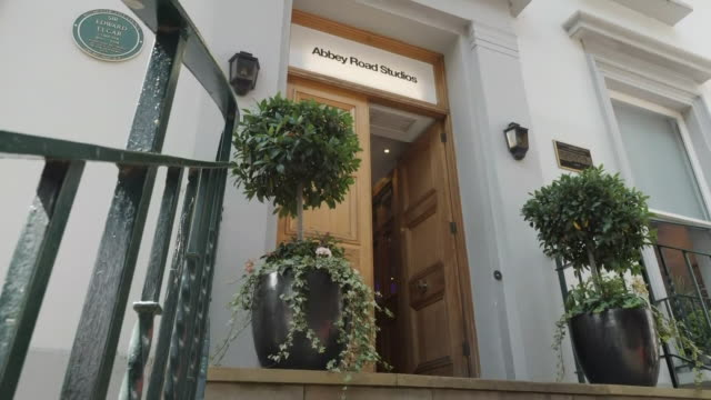 exterior views of the front door of abbey road studios on the 50th anniversary of the abbey road cover photo on 8 august 2019 in london united kingdom - workshop stock videos & royalty-free footage