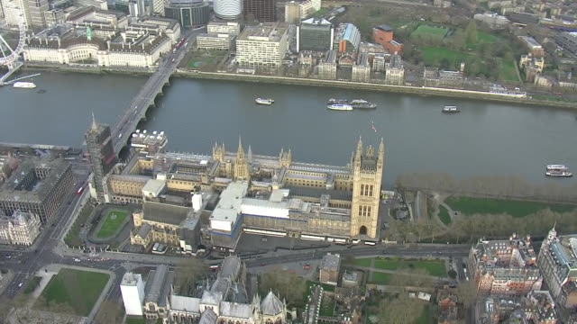 exterior views of the houses of parliament surrounded by empty streets on 20th march 2020 london, england. - houses of parliament london stock videos & royalty-free footage