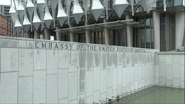 Exterior views of the new US embassy building in London>> on January 16 2018 in London England