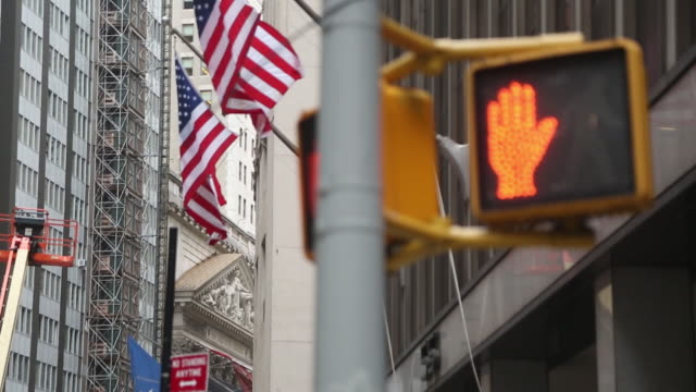 exterior views of the new york stock exchange and street scenes around wall street new york city ny us on friday september 21 2018 - hermes designer label stock videos and b-roll footage
