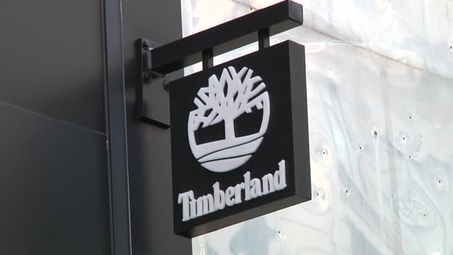 exterior views of timberland retail stores in manhattan timberland stores on july 11 2012 in new york ny - boot stock videos & royalty-free footage