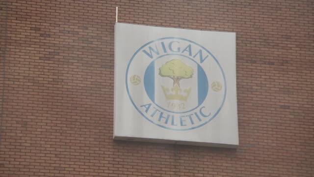 exterior views of wigan athletic's dw stadium - symbol stock videos & royalty-free footage