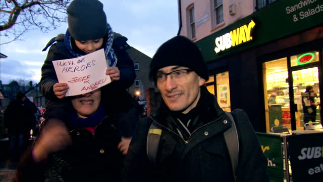 brixton exterior voxpops with fans speaking on david bowie's death - vox populi stock videos and b-roll footage