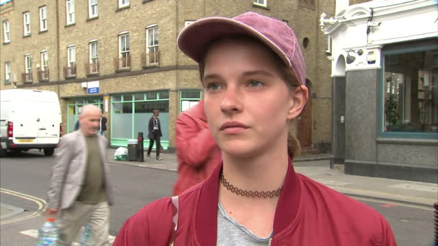 Exterior voxpops with Labour party members about electing the shadow cabinet and shaping policy on September 18 2016 in London England